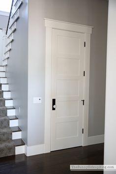 Interior Door Trim, Interior Door Styles, Farmhouse Interior Doors, Door Frame Molding, Crown Molding, Farmhouse Trim, Modern Farmhouse, Craftsman Trim, Craftsman Houses
