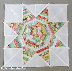 String Star Scrappy Quilt Block - I want to make this so badly with my grey fabrics, but I'm very intimidated.