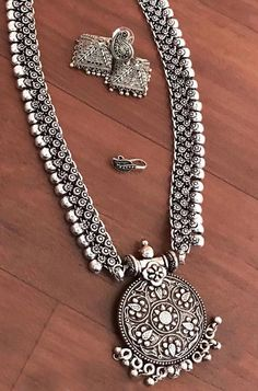 Buy online Silver Antique Combo Set With Bangles Antic Jewellery, Saree Jewellery, Antique Jewellery Designs, Silver Jewellery Indian, Oxidised Jewellery, Antique Jewelry, Silver Jewelry, Ear Jewelry, Tribal Jewelry