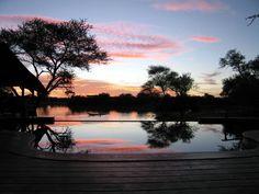 Sunset at the villa, Okonjima game reserve, Namibia