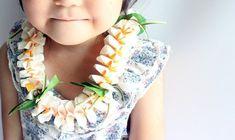 Ribbon lei for hula girls(white plumeria) /Hula Accessories/Hula Flowers/Hawaii /hawaiian crown/headband/haku/Graduation Leis/ Hawaiian Party Favors, Luau Party, Wedding Party Favors, Flower Lei, Flower Crown, Ukulele Accessories, Ukulele Straps, Ribbon Lei, Graduation Leis