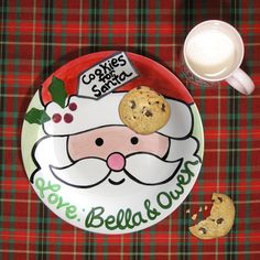 Cookies & Milk for Santa - Plate and Mug