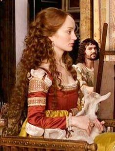 Yes that is a goat on her lap ;) Giulia Farnese from the TV Series The Borgias - Borgia Ladies Closet