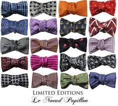 Limited edition silk bow ties from le noeud papillon.