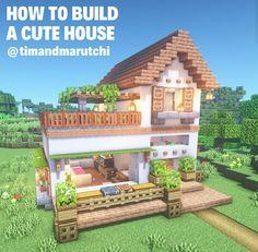 Minecraft Cottage, Easy Minecraft Houses, Minecraft Houses Blueprints, All Minecraft, Minecraft Room, Minecraft Plans, Minecraft House Designs, Minecraft Decorations, Amazing Minecraft