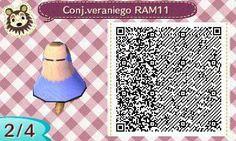 Este es un QR Code para Animal Crossing, creado por mí; como podéis observar, es un conjunto veraniego de color lila. [2-4]  Lo podéis encontrar en mi canal de YouTube: https://www.youtube.com/channel/UCh6uwa2CjSgR4WQ-ghRQY6Q (Roxy).  ¡Espero que os guste! ;)