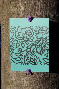 Batik Flower Card Set