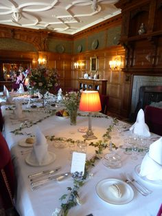 The Dining Room, Lanhydrock House, Cornwall. (Photo: WendyJames ~ May 2016)