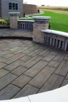 Top 50 Best Stamped Concrete Patio Ideas - Outdoor Space Designs - A well-appointed patio is a seasonal must-have when the weather warms and the days grow longer. Concrete Patio Designs, Cement Patio, Backyard Patio Designs, Backyard Landscaping, Patio Ideas, Patio Stone, Flagstone Patio, Stamped Concrete Patio Cost, Concrete Patio Extension Ideas