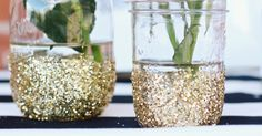 Glitter Vase DIY (May be a little messy, but cute!)