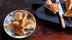 Olive-and-feta-crusted chicken recipe : SBS Food Olive Recipes, Herb Recipes, Greek Recipes, Cooking Recipes, Cooked Chicken Recipes, How To Cook Chicken, Crusted Chicken, Roast Chicken, Sbs Food