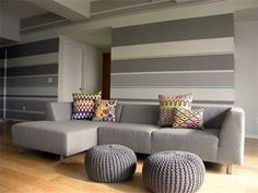 Painting Wall Ideas holly & ryan's modern vintage mix | striped walls, inspiration