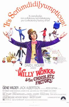 Willy Wonka and the Chocolate Factory Movie Poster It measures 27 x 40 inches or 69 x 101 cms. Willy Wonka the Chocolate Factory is a 1971 musical film adaptation of the 1964 novel Charlie and the Chocolate Factory by Roald Dahl, directed by . Willy Wonka, Old Movies, Vintage Movies, Great Movies, Vintage Posters, Excellent Movies, Awesome Movies, Popular Movies, Latest Movies