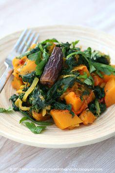 Cucina mediorientale: zucca, datteri e spinaci