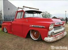Red Chevy Apache Truck