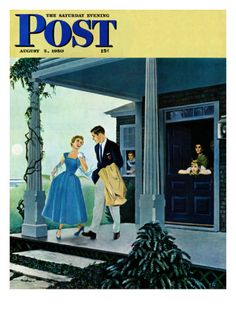 Date for the Dance by George Hughes, August 5, 1950, The Saturday Evening Post.