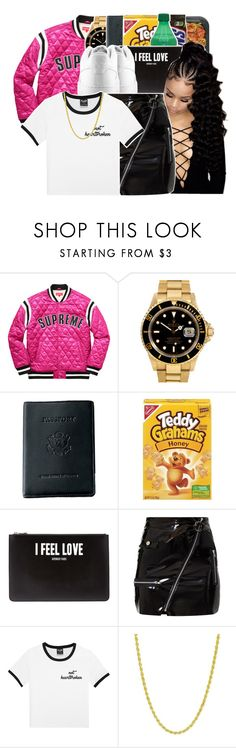 """""""PartyRockin'™"""" by tharealjassy ❤ liked on Polyvore featuring Rolex, Royce Leather, Givenchy, NIKE and Pori"""
