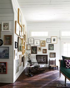 gallery wall from ~ The Most Popular Rooms Of The Week - ELLE DECOR