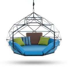 The Pod by Kodama Zome© - Outdoor Swing Bed / Lounge Outdoor Lounge, Outdoor Living, Outdoor Rooms, Deco Spa, Bed Design, House Design, Swing Design, Hanging Beds, Hanging Chairs