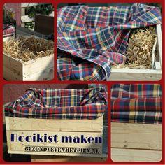 Maak je eigen hooikist met pallethout, isolatiemateriaal, hooi en een restje stof. En maak zo je eigen slowcooker!