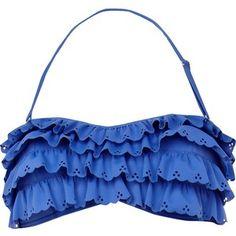 814af4d95d River Island Blue Scallop Edge Bikini Brief Scalloped Bikini, Scalloped  Edge, Frill Bikini,