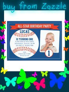 Shop Boys Baseball Sports Birthday Party Invitation created by Sugar_Puff_Kids. Personalize it with photos & text or purchase as is! Pearl Birthday Party, Sports Theme Birthday, 1st Birthday Party Invitations, Baseball Birthday Party, First Birthday Parties, Birthday Party Themes, Boys, Baby Boys, Senior Boys