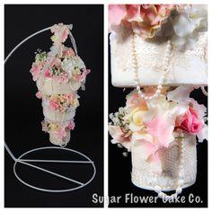Hanging Floral Wedding Cake