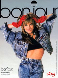 Renee' Simonsen for Bonjour jeans 1987 80s And 90s Fashion, Retro Fashion, Vintage Fashion, 1987 Fashion, Renee Simonsen, Vintage Outfits, Fashion Models, Fashion Tips, 80s Style