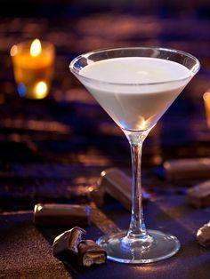 Milky Way Halloween Cocktail: - 1 1/2 oz. Starbucks Cream Liqueur - 1 oz. Three Olives chocolate vodka - 1/2 oz. cream