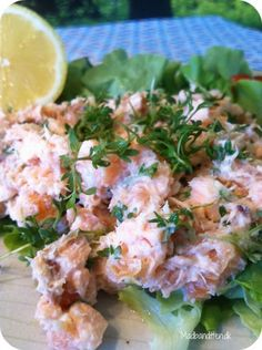 Raw Food Recipes, Seafood Recipes, Great Recipes, Healthy Recipes, Danish Food, Healthy Meals For Kids, Fish Dishes, Everyday Food, Fish And Seafood