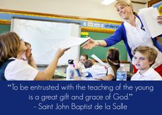 April 7 is the feast day of St. John Baptist de la Salle, patron saint of Catholic schools and teachers. Thank you, teachers, for your dedication to the education of our youth.