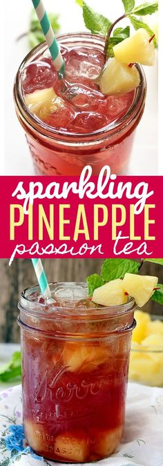 Sparkling Pineapple Passion Tea - If you like Starbucks Passion Tea, then you will love this refreshing twist on your favorite drink! Made with three simple ingredients and perfect for sipping on this summer. @starbucks @walmart #ad #CraftYourCool