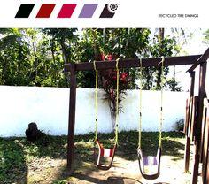Diy inspiration. Make a swing using an old tire (via. livecolorful.com)