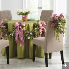 Table decor for Easter or Spring Wedding Table Decorations, Tablecloth Decorations, Spring Decorations, Wedding Centerpieces, Wedding Favors, Halloween, Pink And Green, Purple, Table Settings