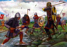Saxons led by Alfred the Great clash with the Vikings Game 2 available… Viking Warrior, Viking Power, Rune Viking, Viking Art, Medieval Knight, Medieval Armor, Viking Myths, Viking Images, Les Runes