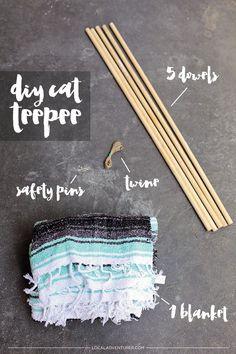 DIY Cat Teepee / DIY Cat Tent.                                                                                                                                                                                 More
