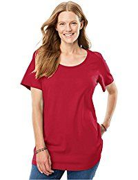 New Woman Within Women's Plus Size Petite Perfect Scoop Neck Tee online. Find the perfect Tough Cookie Clothing Tops-Tees from top store. Sku YQKP77273AXPF42138