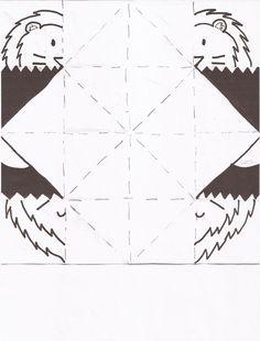 "E280: Daniel and the Lions' Den template 8.5x11"""