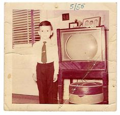 boy and tv