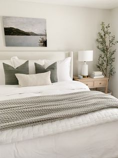 Dream Bedroom, Home Decor Bedroom, Bedroom Ideas, Master Bedroom, Grey Bedrooms, Bed Styling, Bedroom Styles, My New Room, Beautiful Bedrooms