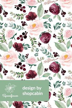 Ideas indie wallpaper iphone art heart for 2019 Floral Wallpaper Iphone, Flower Wallpaper, Pattern Wallpaper, Fabric Wallpaper, Floral Fabric, Fabric Flowers, Floral Flowers, Diy Flowers, Florals