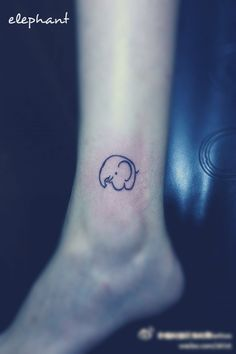 elephant tattoo.... I LIKE THIS ONE AND HOW DAINTY IT IS.. AND I LIKE WHERE IT IS. THATS WHERE IM GONNA PUT MINE