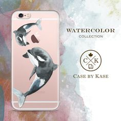 Watercolor Orca Whale - Clear Phone Case for Apple iPhone Watercolor Collection Product #WA0007  Creative & stylish clear phone case specially designed for Apple iPhone. This case looks sleek, but its tough. Its solid construction fits your phone perfectly, and it protects from scratches, dust, oil, and dirt. The smooth finish also makes it stylish and easy to hold.  Product details: - Made of a hybrid Thermoplastic Polyurethane (TPU) and Polycarbonate (PC) material - Solid, durable…