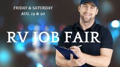 RV Job Fair Coming to Sacramento    La Mesa RV is seeking the best RV Technicians experienced RV Service Advisors RV Parts  personnel and drivers to work at our premier RV location in Davis.  Come find out if you have what it takes to rise to the top and outperform the competition.  Join us for a Job Fair: Holiday Inn 2224 Auburn Blvd  (I-80 Business @ Howe Ave) in Sacramento  2 days only  Friday & Saturday!  August 19th 7 a  5 p  August 20th 8 a  2 p  We are a financially stable company…