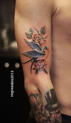 engin hawk – tattoo – tattooartist – d … - Tattoo Designs Men Trendy Tattoos, Love Tattoos, Beautiful Tattoos, Tattoos For Guys, New Tattoos, Hawk Tattoo, Bird Tattoo Men, Tattoo Examples, Bauch Tattoos