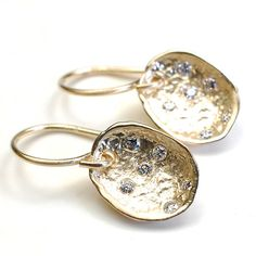 Diamond Earrings Organic Diamond Earrings Pod Earrings by NIXIN, $560.00