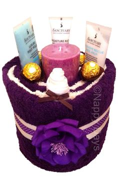 """""""Sanctuary Spa"""" Themed Pedicure Ladies Pamper Cake, by Nappy Days"""