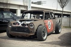 Rat Rod Mini Cooper #MINI #MiniCooper #Rvinyl ============================= http://www.rvinyl.com/MINI-Accessories.html