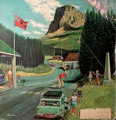 *U.S.-Canadian Boarder At Waterton-Glacier Park...Ben Kimberly Prins (1902 –1980)