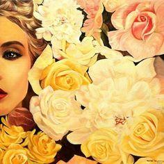 WEBSTA @ ourdayart - Oilpainting by Patrycja Lewicka #oilpainting #flowers #womens